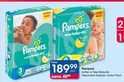 Pamper Active Or New Baby Dry Disposable Nappies Jumbo Pack-Each