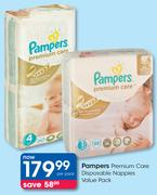 Pampers Premium Care Disposable Nappies-Per Pack