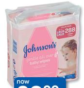 Johnsons Gentle All Over 288 Baby Wipes Value Pack-Per Pack