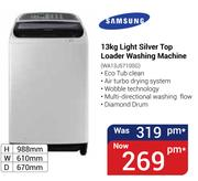 Samsung 13Kg Light Silver Top Loader Washing Machine WA13J5710SG