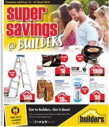 Builders : Super Savings (13 March - 25 March 2018), page 1