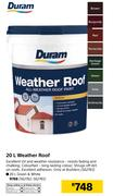 Duram 20Ltr Weather Roof