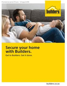 Builders : Secure Your Home With Builders (19 June - 12 Aug 2018), page 1