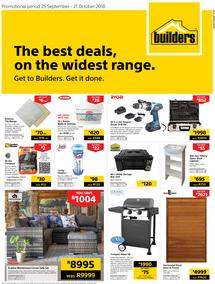 Builders WC, PE, George & Knysna: The Best Deals, On The Widest Range (25 Sep - 21 Oct 2018), page 1