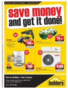 Builders Inland : Save Money & Get It Done (24 Oct - 12 Nov 2017), page 1