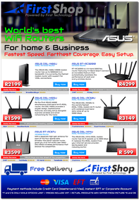 First Shop : World's best Wifi Routers (valid until 29 Nov 2015), page 1
