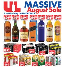 Ultra Liquors : Massive August Sale (21 Aug - 03 Sep 2018), page 1