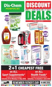 Dis-Chem : Discount Deals (17 May - 09 Jun 2019), page 1