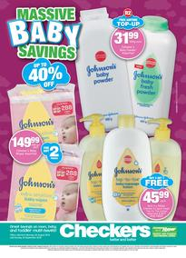 Checkers Eastern Cape : Massive Baby Savings (20 Aug - 09 Sep 2018), page 1