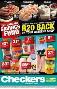 Checkers Eastern Cape : January Savings Specials  (02 Jan - 20 Jan 2019), page 1