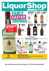 Checkers Liquor Eastern Cape : Early Easter Savings (14 Mar - 31 Mar 2019), page 1