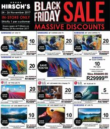 Hirsch's : Black Friday (24 Nov - 26 Nov 2017) In-store Only, page 1