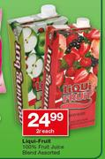 Liqui Fruit 100% Fruit Juice Blend Assorted-2Ltr Each