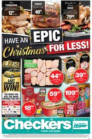 Checkers : Epic Christmas For Less! (11 Dec - 25 Dec 2018), page 1