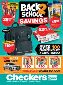Checkers : Back To School Promotion (31 Dec - 27 Jan 2019), page 1