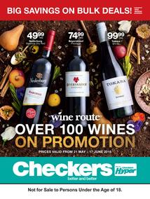 Checkers : Over 100 Wines On Promotion (21 May - 17 Jun 2018), page 1