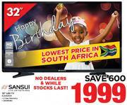 "Sansui 32"" LED TV SLED32HDR"