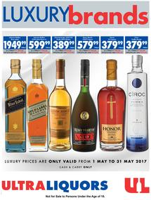 Ultra Liquors : Luxury Brands (01 May - 31 May 2017), page 1