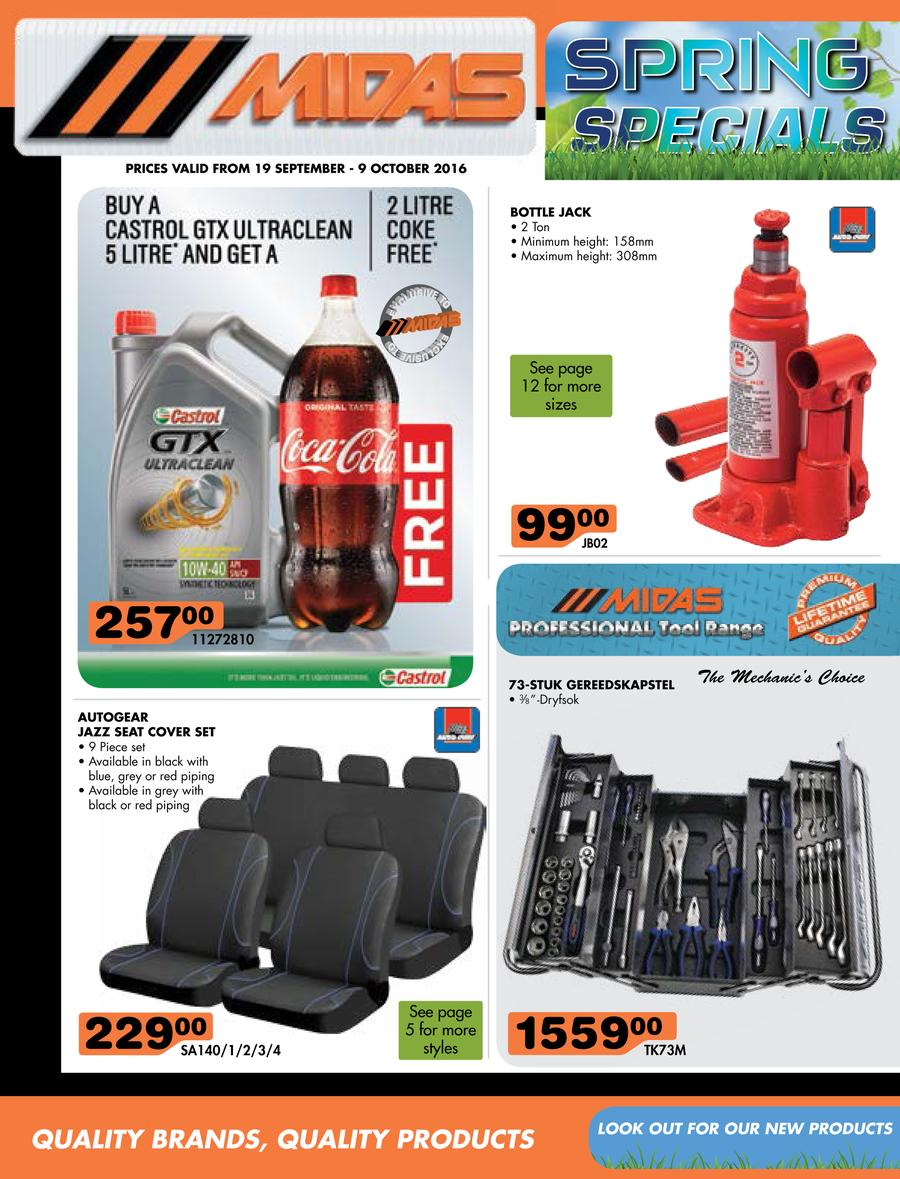 Midas : Spring Specials (19 Sep - 9 Oct 2016)