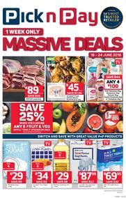 Pick n Pay Eastern Cape : Massive Deals, One Week Only (18 Jun - 06 Jun 2018), page 1