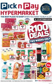 Pick n Pay Hyper : R100 Deals (08 Oct - 21 Oct 2018), page 1
