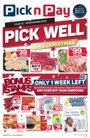 Pick n Pay  Gauteng, Free State, North West, Mpumalanga, Limpopo and Northern Cape : Pick Well This Christmas (12 Nov - 18 Nov 2018), page 1