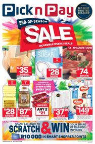 Pick n Pay : End-Of-Season Sale (13 Aug - 19 Aug 2018), page 1