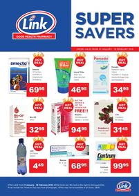 Link Pharmacy : Super Savers (31 Jan - 18 Feb 2018), page 1