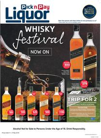 Pick n Pay Liquor : Whisky Festival Savings (14 May - 27 May 2018), page 1