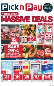 Pick n Pay Western Cape : Massive Deals, One Week Only! (18 Jun - 24 Jun 2018), page 1