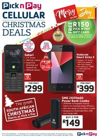 Pick n Pay : Cellular Christmas Deals (07 Nov - 31 Dec 2017), page 1
