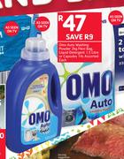 Omo Auto washing Powder Flexi Bag, 2Kg, Liquid Detergent-1.5Ltr Or Capsules Assorted-14s Each