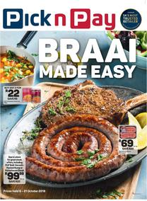 Pick n Pay : Braai Made Easy (08 Oct - 21 Oct 2018), page 1