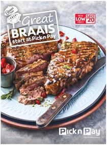 Pick n Pay : Great Braai's Start At Pick n Pay (16 Oct - 19 Nov 2017), page 1