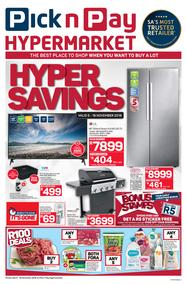 Pick n Pay Hyper : Savings (05 Nov - 18 Nov 2018), page 1