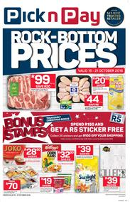Pick n Pay Western Cape : Rock-Bottom (15 Oct - 21 Oct 2018), page 1