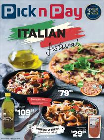 Pick n Pay : Italian Festival (06 Aug - 19 Aug 2018), page 1