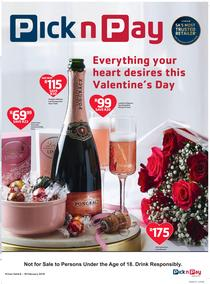 Pick n Pay : Valentines Day (06 Feb - 18 Feb 2018), page 1