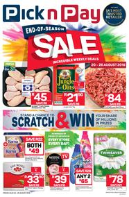 Pick n Pay Eastern Cape : End-Of-Season Sale (20 Aug - 26 Aug 2018), page 1