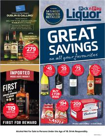 Pick n Pay Liquor : Great Savings On All Our Favourites (21 May - 03 Jun 2018), page 1