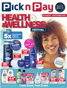 Pick n Pay : Health & Wellness Festival (20 Aug - 02 Sep 2018), page 1