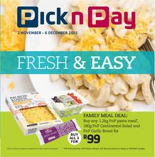 Pick n Pay : Fresh And Easy (02 Nov - 06 Dec 2015), page 1