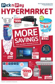 Pick n Pay Hyper : More Savings (16 Apr - 22 Apr 2018), page 1