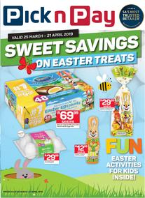 Pick n Pay : Sweet Easter Treats (25 Mar - 21 Apr 2019), page 1