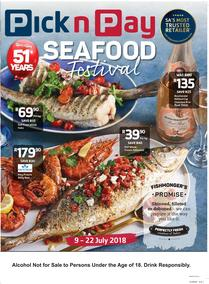 Pick n Pay Western Cape : Seafood Festival (09 Jul - 22 Jul 2018), page 1