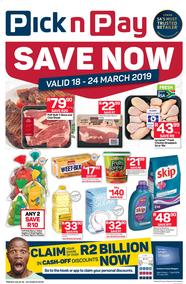 Pick n Pay Eastern Cape : Save Now (18 Mar - 24 Mar 2019), page 1
