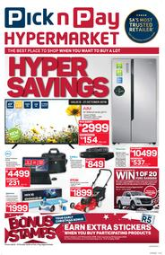 Pick n Pay Hyper : Savings (08 Oct - 21 Oct 2018), page 1