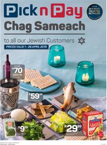 Pick n Pay : Chag Sameach To All Our Jewish Customers (01 Apr - 28 Apr 2019), page 1