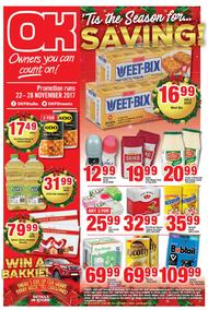 OK Foods Gauteng : Savings (22 Nov - 28 Nov 2017), page 1