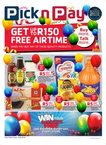 Pick n Pay : Get Up To R150 Free Airtime (15 Jun - 08 Jul 2018), page 1